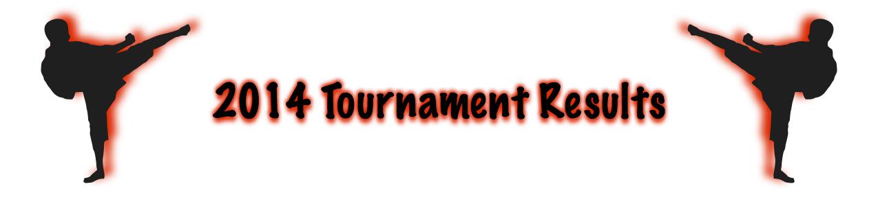 Tournament Result Bar 2014